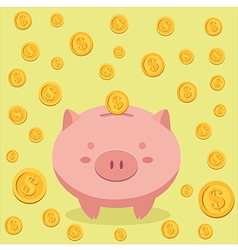 Piggy Bank and Coin Money vector image