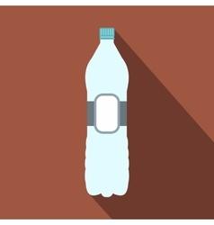 Plastic bottle flat icon vector image vector image