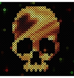 Skull gold Beads sequins Shiny vector image