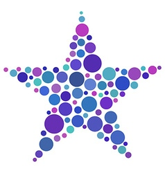 Star shape made of colored circles vector image vector image