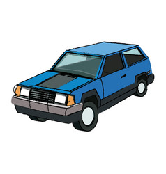 Suv car sport utility vehicle cartoon vector