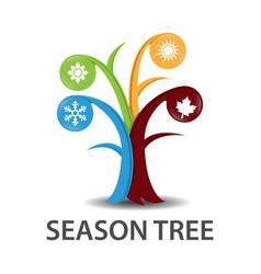 tree of seasons vector image vector image