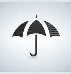 umbrella icon with dots vector image