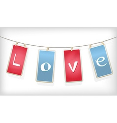 Valentine hanging labels vector image vector image