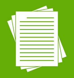vintage lined papers icon green vector image