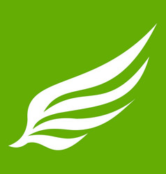 wing icon green vector image