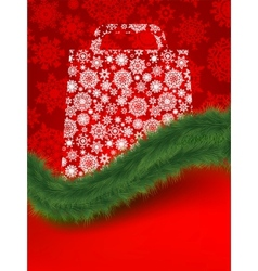 xmas shopping bag vector image