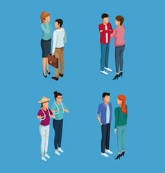Young people 3d vector