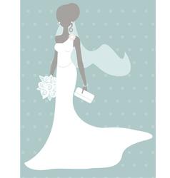 Silhouette bride vector