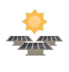 Isolated solar panel with sun design vector