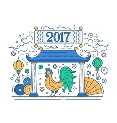 Happy new year 2017 - holiday poster with a vector