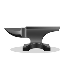 Single horn anvil simple icon isolated on white vector