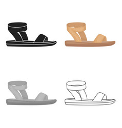 Woman sandals icon in cartoon style isolated on vector