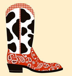 Cowboy boot decorationWestern symbol vector image