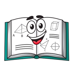 Happy smiling cartoon school textbook vector