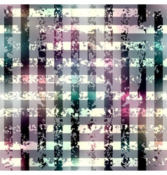 Grunge grid pattern on blurred background vector