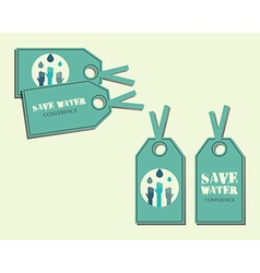Save water conference stickers and labels vector image