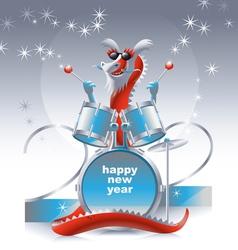 dragon drummer 2012 vector image