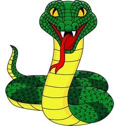 angry cobra cartoon vector image