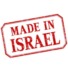 Israel - made in red vintage isolated label vector