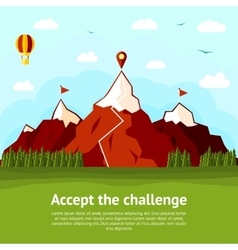 Accept the challenge concept card with high vector
