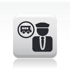 Bus driver icon vector