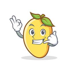 call me mango character cartoon mascot vector image