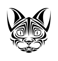 Cat feline tribal tatto animal creativity design vector