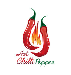 Chili peppers symbol vector
