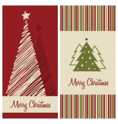 Christmas card set vector