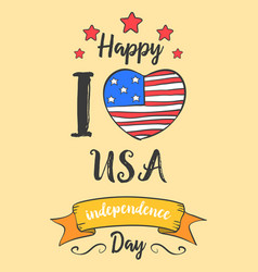Collection stock of independence hand draw vector