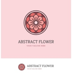 Colorful round flower logo vector