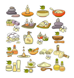 Colorful spa accessory icon vector