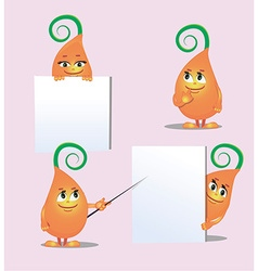 cute monster- sprout from different angles vector image