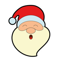 cute santa claus head character vector image