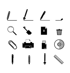 document icons set business information vector image vector image