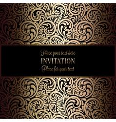 Invitation decorative golds 23 vector