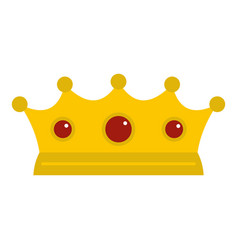 Jewelry crown icon isolated vector