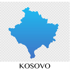 Kosovo map in europe continent design vector