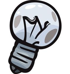 Old bulb junk cartoon vector