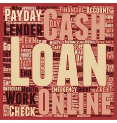 Online cash loans instant and easy means to access vector