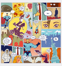 page comics layout concept vector image vector image