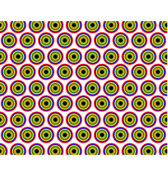 pattern with circles in a flat style vector image vector image