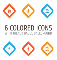 people icons set collection of old woman vector image