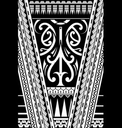 polynesian style ornament vector image vector image