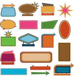 retro vintage signs and sale labels vector image vector image