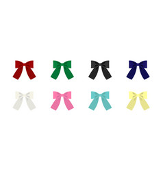 set of clip art bows vector image