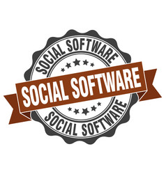 social software stamp sign seal vector image vector image