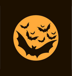 The bats for halloween vector