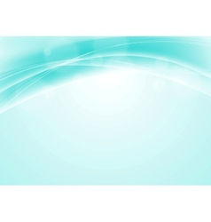 Turquoise blue abstract smooth wavy background vector